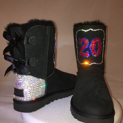 Red Sox Warm & Sparkly Ugg Boots