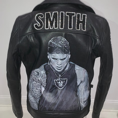 Smith Painted Portrait Leather Jacket