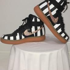 Custom Painted Striped Nike