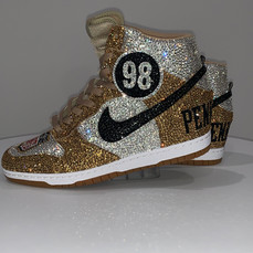Removeable Number Gold Nike Team Dunks