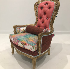 Feather Chair With Pillow