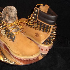 Spiked Timberland Boots