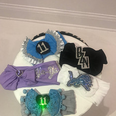Custom Bling Fabric Headbands