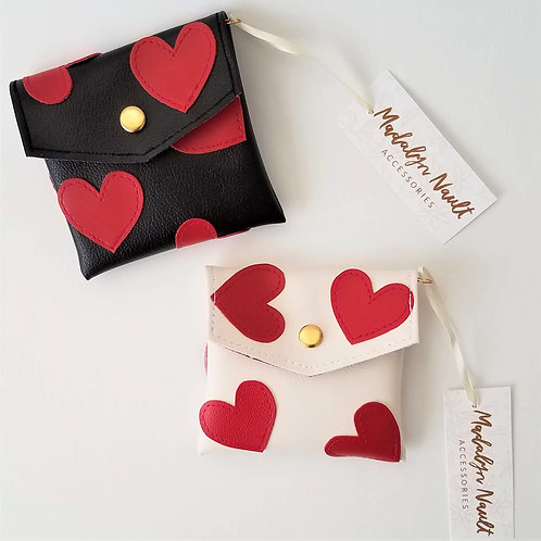 Hearts all over wallet