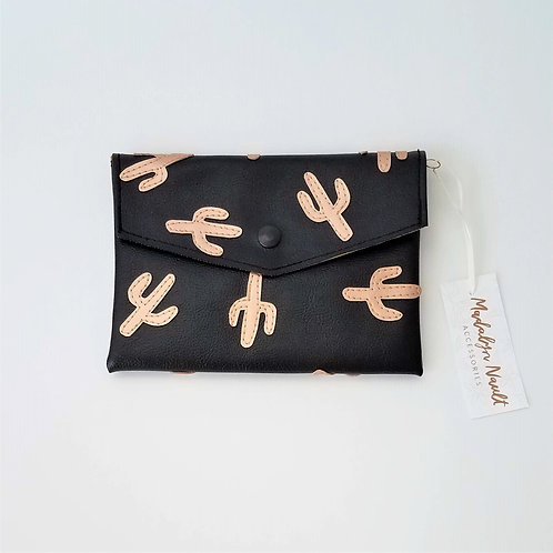 Cactus All Over Long Wallet/Small Clutch