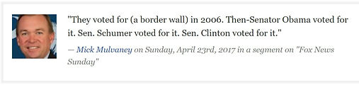 Quote From Twitter About Democrats Voting For BorderWall