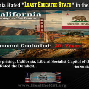 REPORT: California Ranked as 'Least-Educated State' in the Nation.