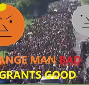 "WATCH: ""Orange Man Likes to Gas Children"" by Bearing."