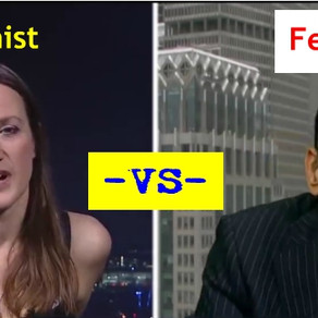 WATCH: Feminist Get's Owned by a Man Over Free Speech. (lol)
