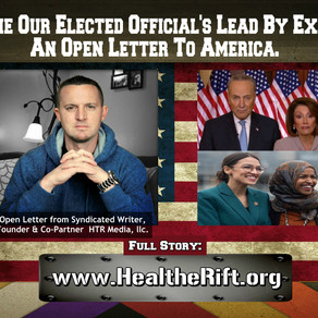 It's Time Our Elected Official's Lead By Example: A Plead From America.