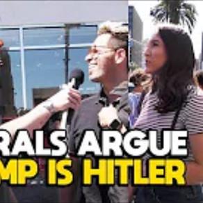 Liberals Argue Trump is Hitler