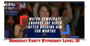 LOL: Watch Democrats Endorse Joe Biden After Bashing Him For Months.