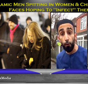 VIDEO: Muslim Men Spitting In The Face Of Innocent Men, Women And Children Hoping To Infect Them!