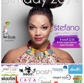 Publicity-sponsors banner for Mrs. Idra Kayne live gig summer 2018