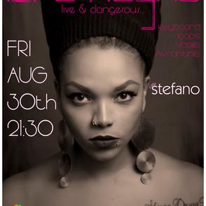 Promo poster for Mrs. Idra Kayne live gig summer 2019