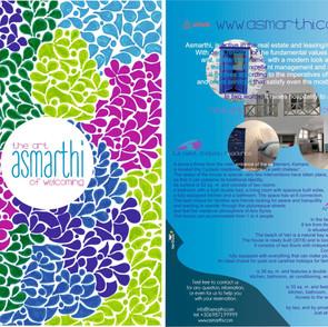Promo flyer for Asmarthi company