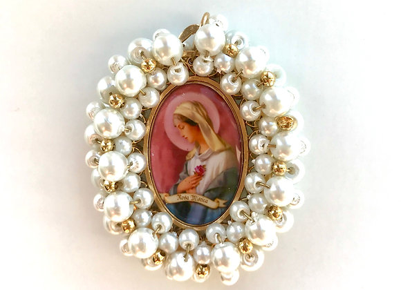 Medalla Virgen de la Rosa Mística