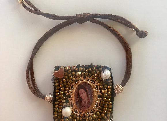 Pulsera Virgen de Guadalupe artesanal