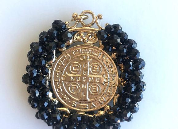 Medalla San Benito XL negro