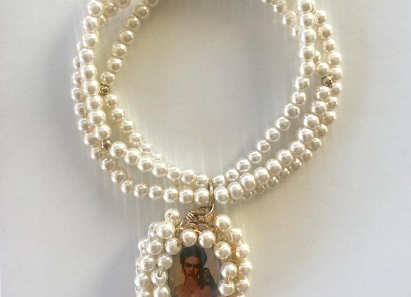 Pulsera Frida perlas triple