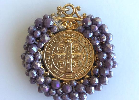 Medalla San Benito XL malva