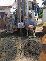 Bore hole drilling for the local community