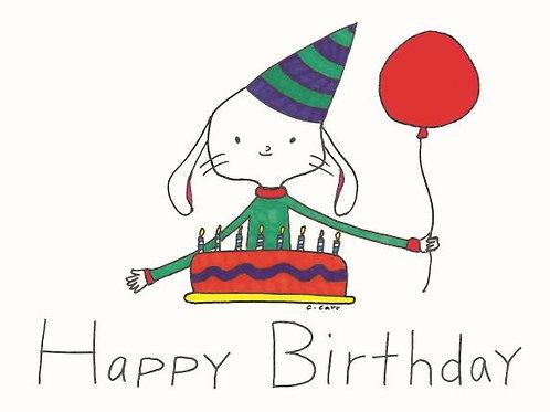 15 - Happy Birthday - cake and balloon