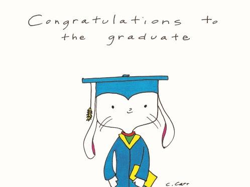 62 - Congratulations to the graduate