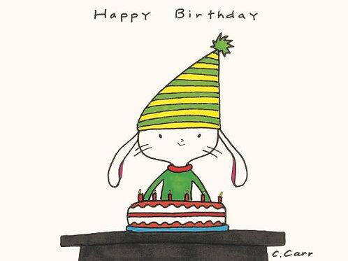 34 - Happy Birthday (green/yellow hat)