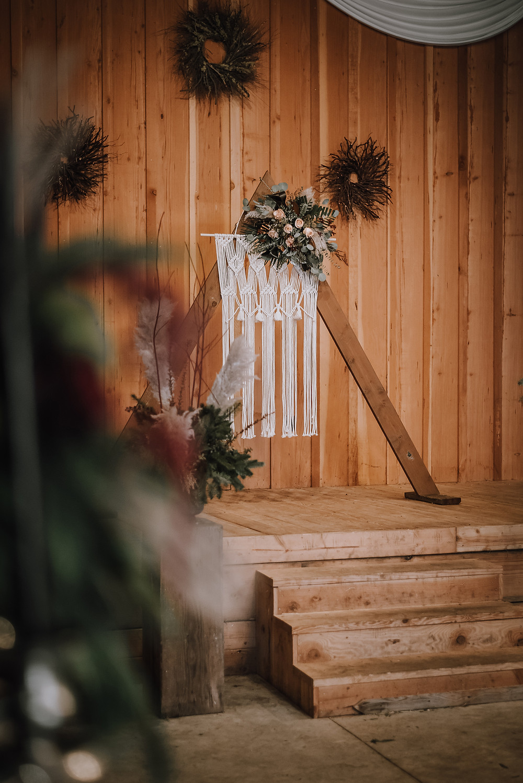 Petal to the Metal Flowers Archer Farms Christmas Wedding Boho Elopement Rustic Barn Wedding Oregon Wedding North Bend Coos Bay Wedding H.Koell Photography Heather Koell Photography