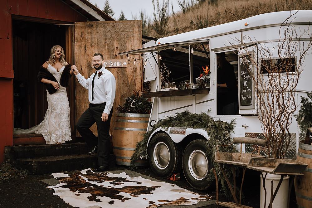 Archer Farms Christmas Wedding Boho Elopement Rustic Barn Wedding Oregon Wedding North Bend Coos Bay Wedding H.Koell Photography Heather Koell Photography