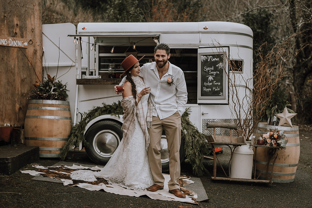 The Tipsy Willow Archer Farms Christmas Wedding Boho Elopement Rustic Barn Wedding Oregon Wedding North Bend Coos Bay Wedding H.Koell Photography Heather Koell Photography