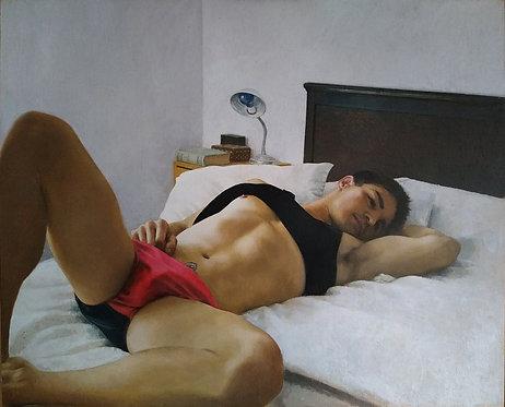 BOY IN RED - Enrique Moreiro - FMB Art Gallery