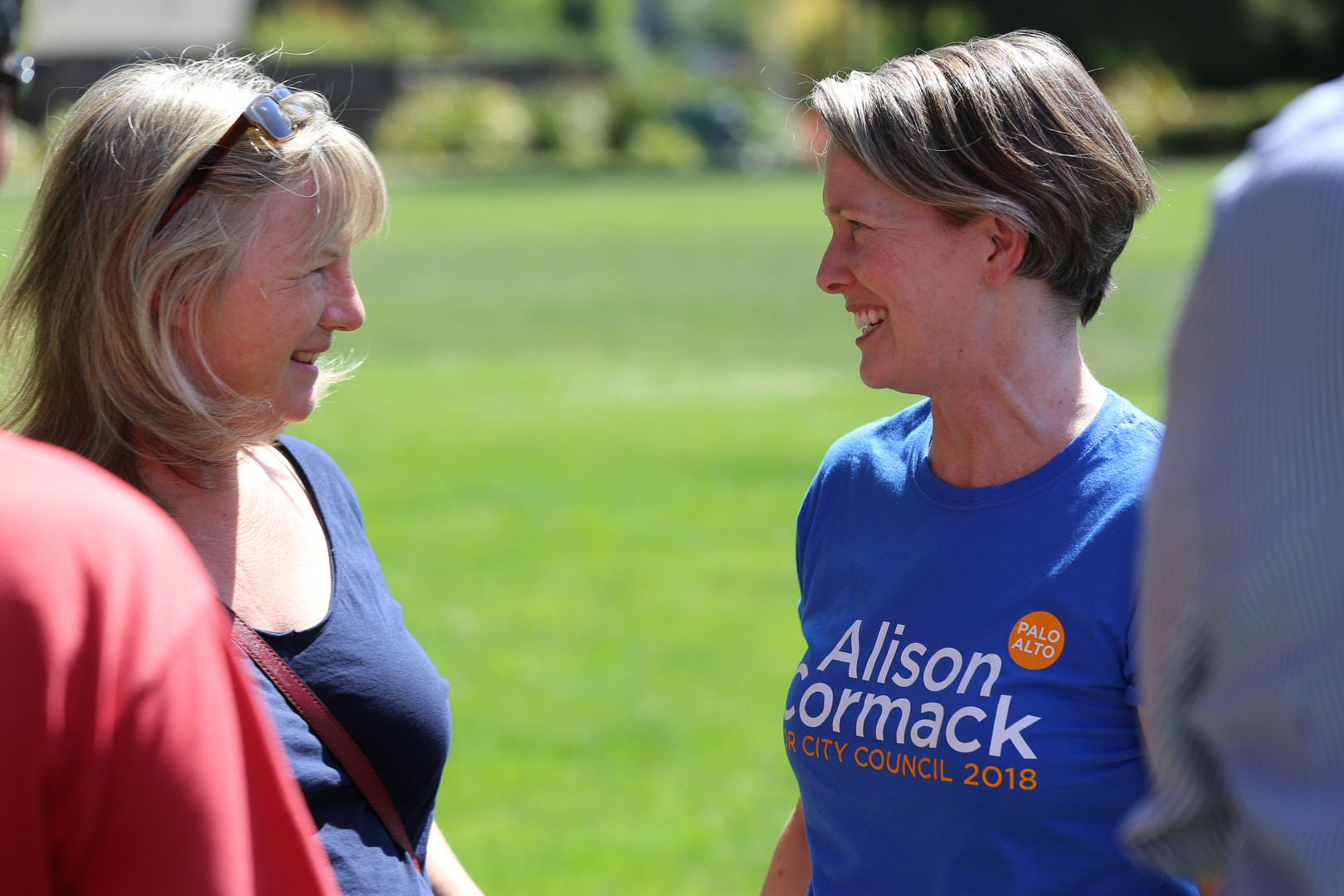 Supporters gather for Alison Cormack for Palo Alto City Council