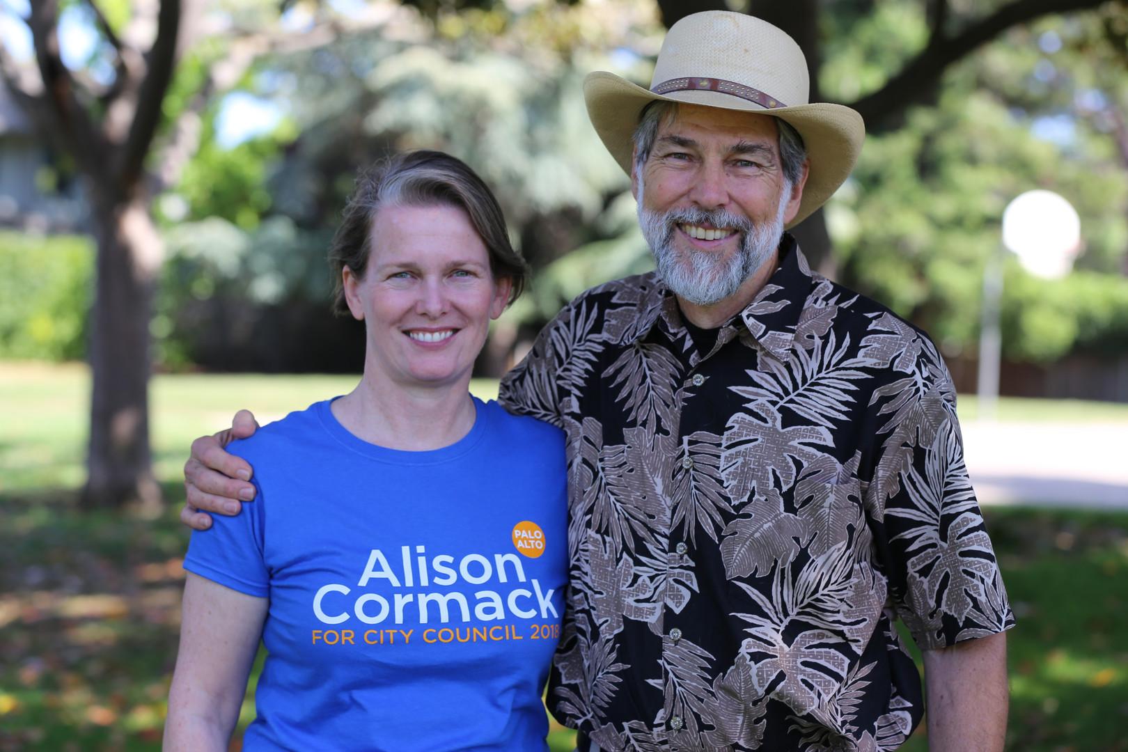 Bern Beecham and Alison Cormack