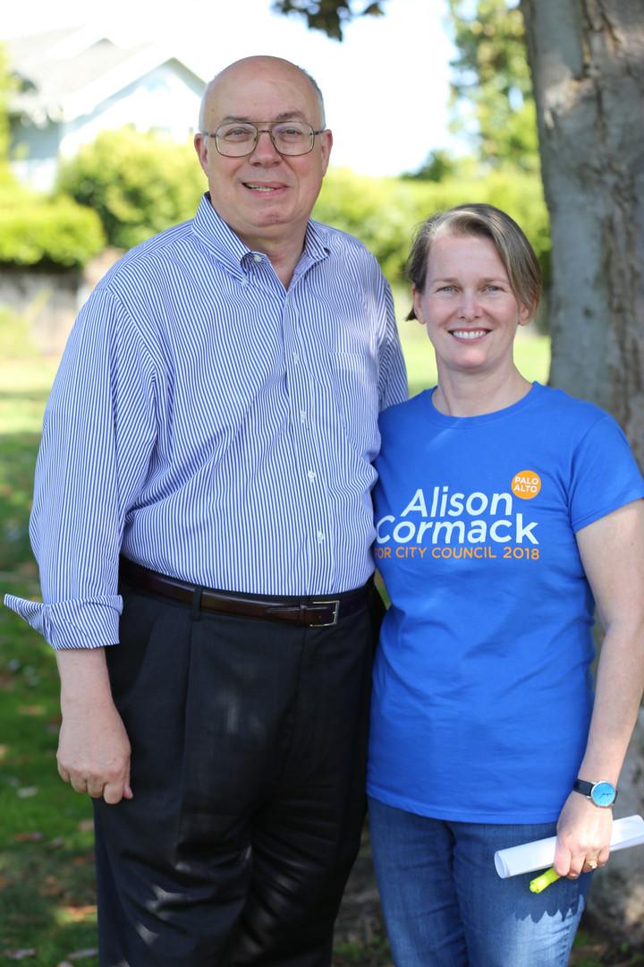 Joe Simitian and Alison Cormack