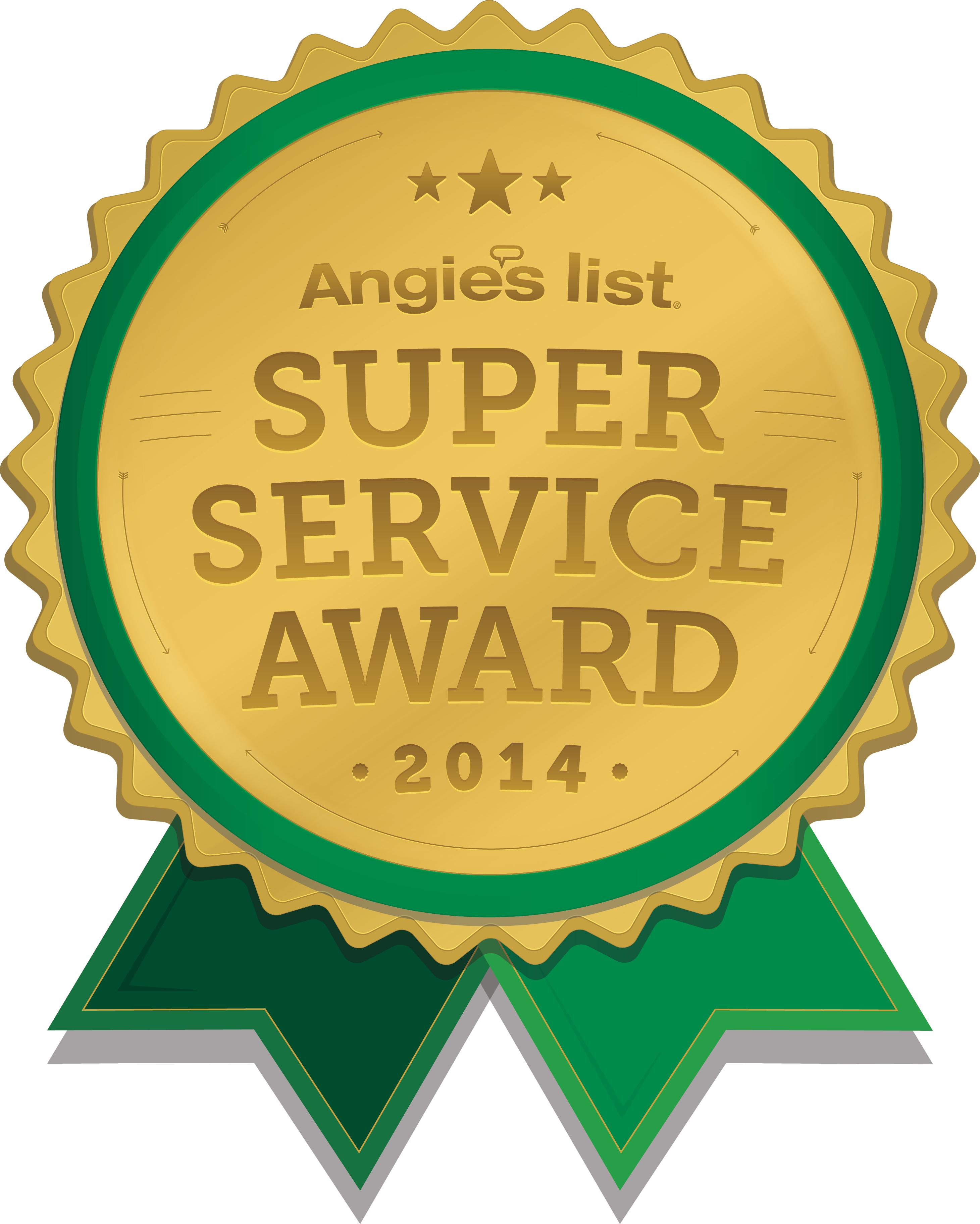 Angie's List 2014 Award Logo