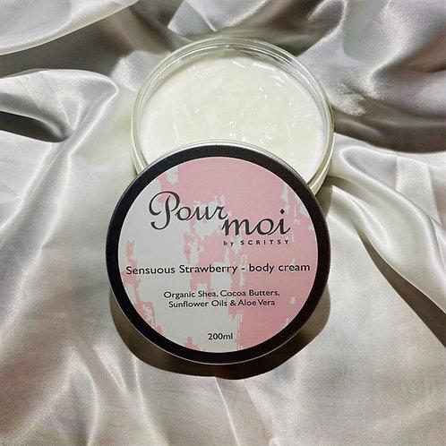 Body Cream 200ml of Sensuous Strawberry