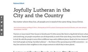 Lutherans Engage Article