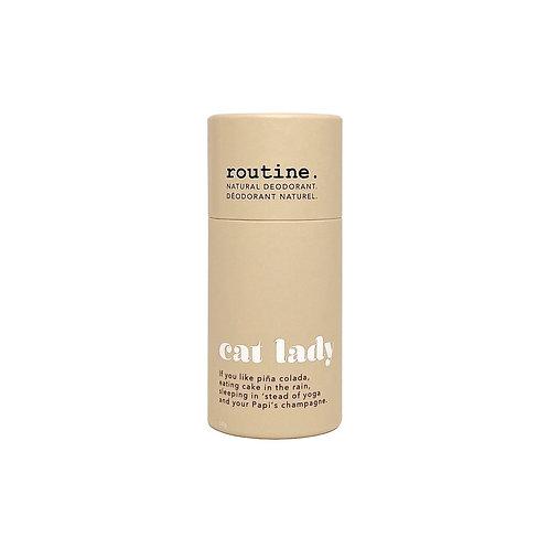 routine  natural deodorant - Cat lady