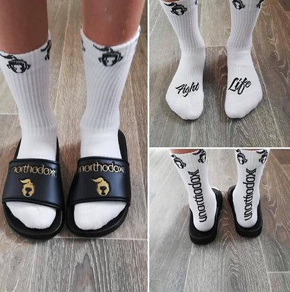 Girls (age 11 and under) 'Fight Life' Socks size 1-3 UK