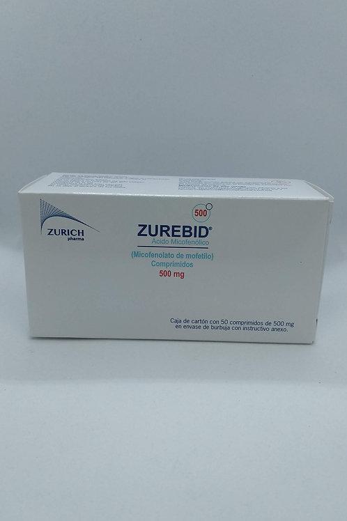 Micofenolato de Mofetilo Zurebid 500mg C/50 Comp