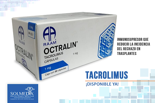 TACROLIMUS OCTRALIN 1MG C/50 CAPS
