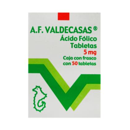 ACIDO FOLICO AF VALDECASAS  5 MG  C/20 TAB VALDECASAS