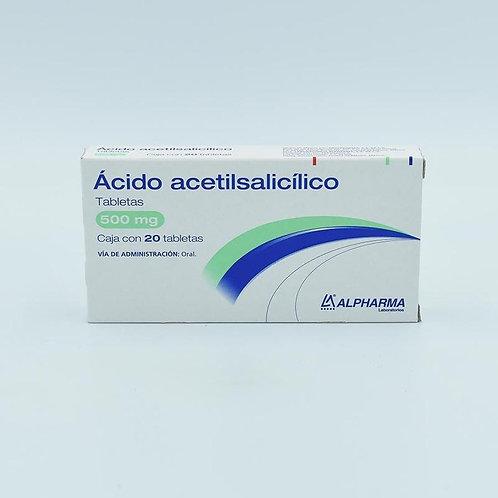 ACIDO ACETILSALICILICO 500MG C/20 TAB ALPHARMA