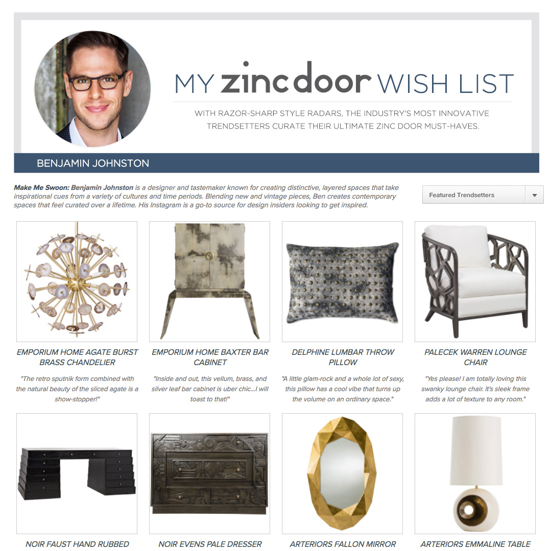 Zinc Door's 'Wishlist From A Pro.'