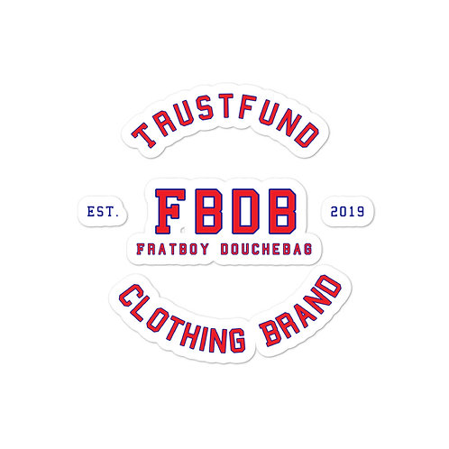 Fratboy Douchebag (FBDB) Bubble-free stickers