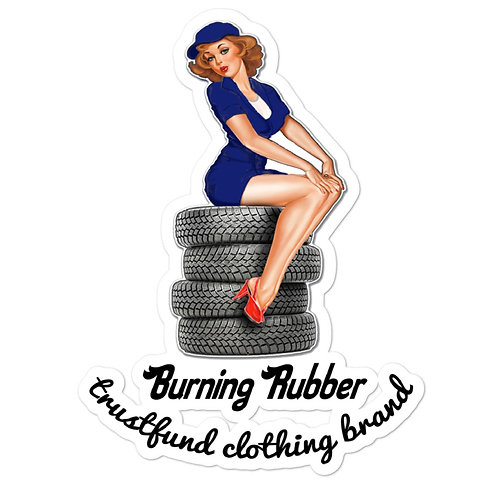 Burning Rubber! Bubble-free stickers