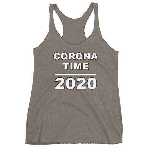 Corona Time 2020 Racerback Tank