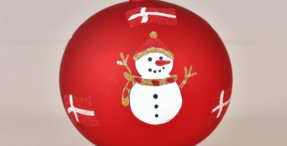 Snemands kugle 12cm, Rød